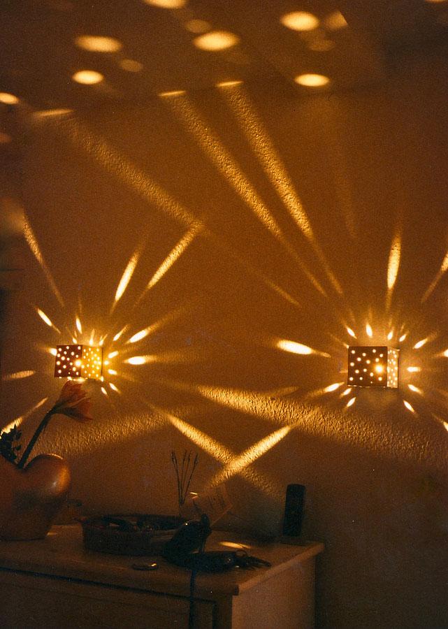 Pünkchen Metall Wand Leuchten