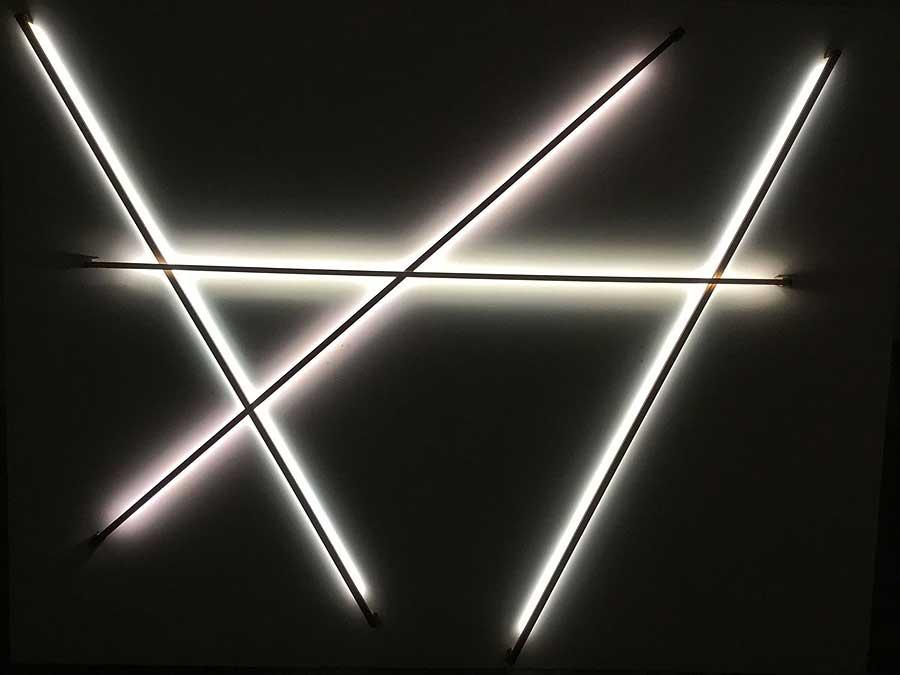 Lichtstab Installation
