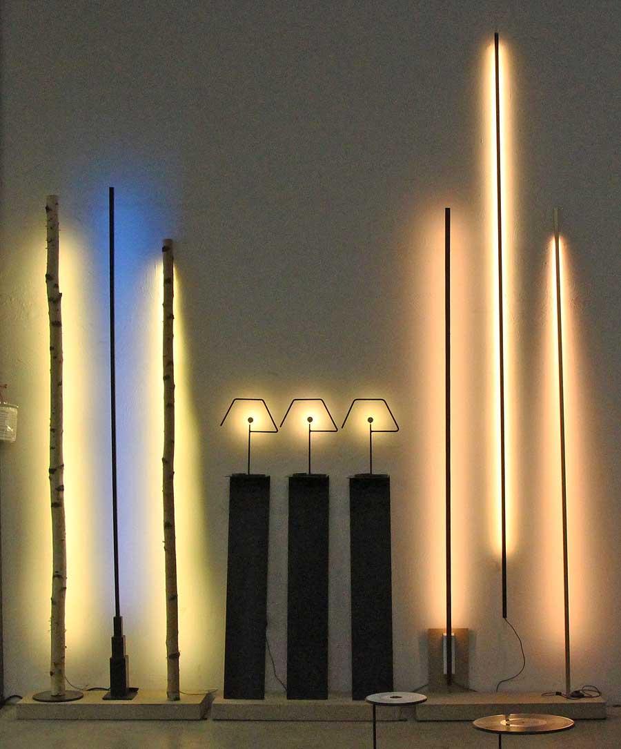 Metall Leuchten und Lichtstäbe